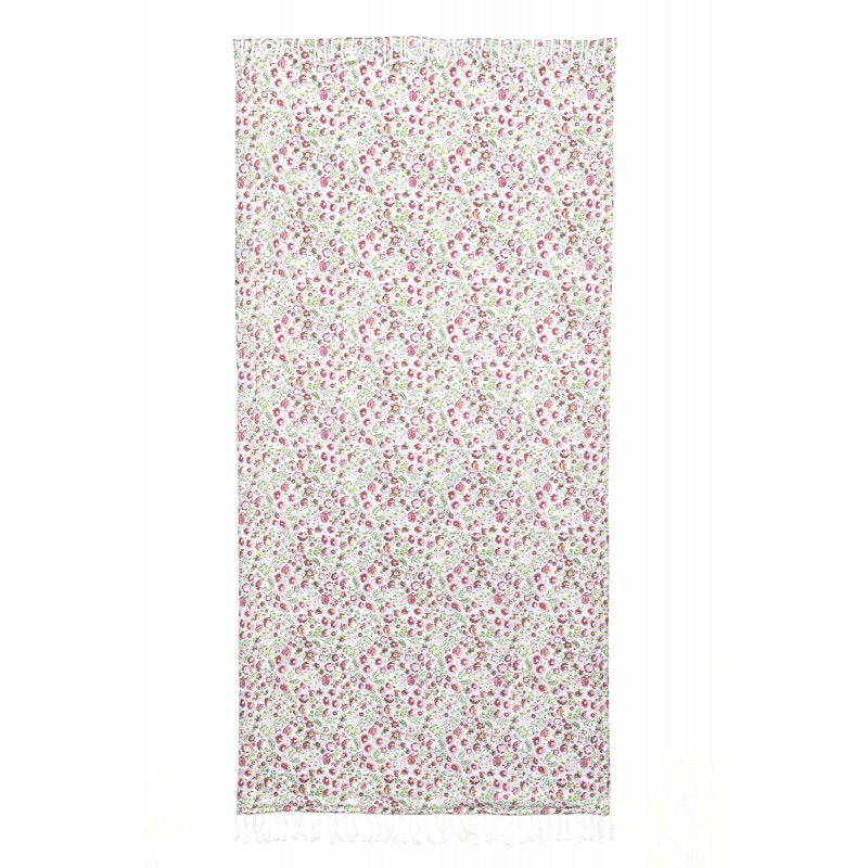 FOUTA LUXE CAPSUD VERT ROSE 90x190
