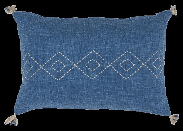 EQUINOXE COUSSIN 40x60 BLEU PETROLE FICELLE