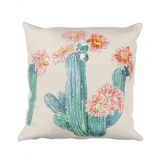 HOUSSE COUSSIN ALOES CORAIL